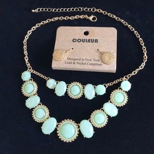 Jewelry - NWT Necklace Set Green